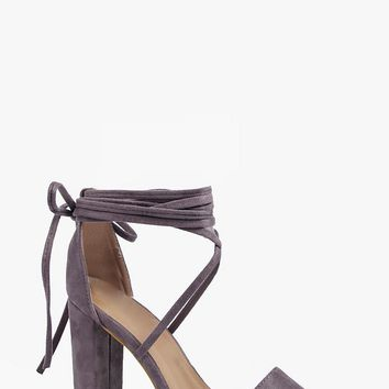 Emma Wrap Strap Two Part Block Heel | Boohoo