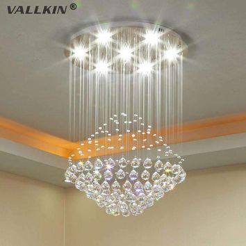 VALLKIN Modern LED Crystal Chandeliers Lighting Fixture Ceiling Pendant Lamps Chandelier Indoor Deco Hanging Lamp for Home