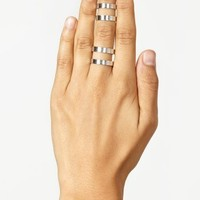 Stacked Cutout Rings - Silver