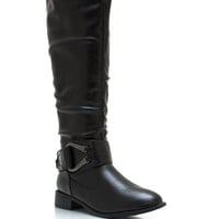 Bigger-The-Buckle-Riding-Boots BLACK CHESTNUT - GoJane.com