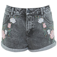 INSPIRED BY Black Floral Embroidered Short - View All  - New In