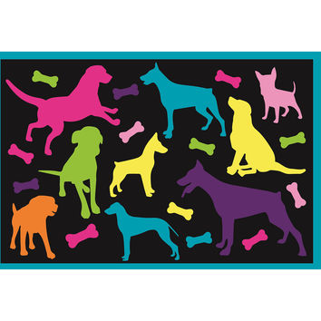 Fun Rugs Fun Time Collection Bow Wow Area Rug