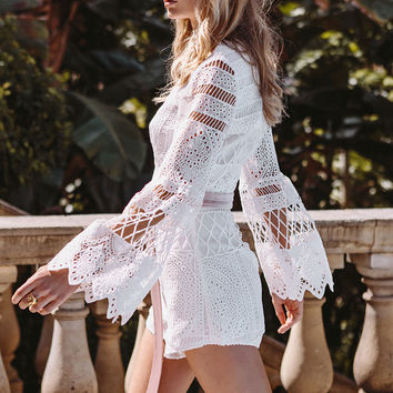 Buy Bold Lace Playsuit Online by SABO SKIRT