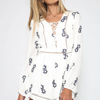 Talulah - These Dreams Long Sleeve Playsuit - Floral