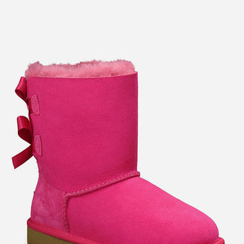 Ugg Bailey Bow Girls Boots Pink  In Sizes