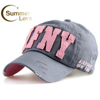 Cotton Snapback Baseball Cap Female Hats For Women Girls NYC and AFNY Casquette Sport Casual Headgear Adjustable Gorras