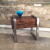 Reclaimed Fir Column Side Table