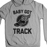 Baby Got Track (Dark)-Unisex Heather Grey Hoodie