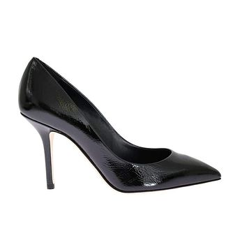 Dolce & Gabbana Black Leather Pointy Pumps