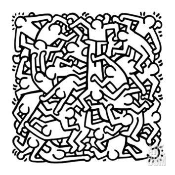 Party of Life Invitation, 1986 Giclee Print by Keith Haring at Art.com