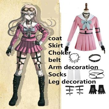 Hot Japanese Games Danganronpa V3: Killing Harmony Iruma Miu Cosplay Costume Clothes Accessories Wigs High Quality Free Shipping