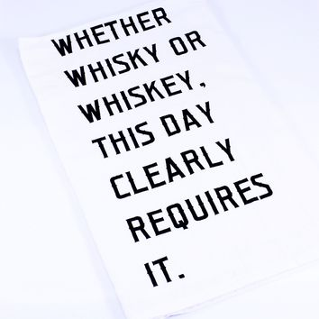Require Whiskey Tea Towel
