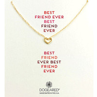 Dogeared Gold-Tone Open Heart Necklace