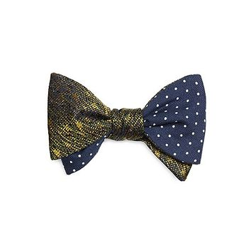 Men's Camo Print with Dots Bow Tie