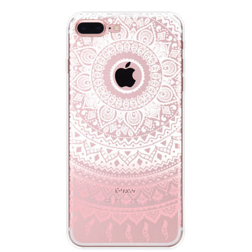 Pink Lace iPhone 7 7Plus & iPhone se 5s 6 6 Plus Case Cover +Gift Box-91