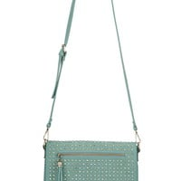 Studded Crossbody Bag - Green