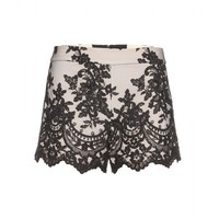 alice + olivia - high-waisted lace shorts