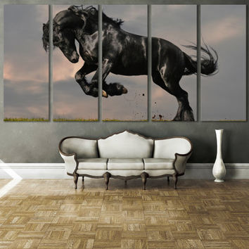 Horse Photography Canvas Print Wall Art / Western Horse Decor Giclee Fine Art Canvas Print Nature Photography Wall Art Stallion Wall Art