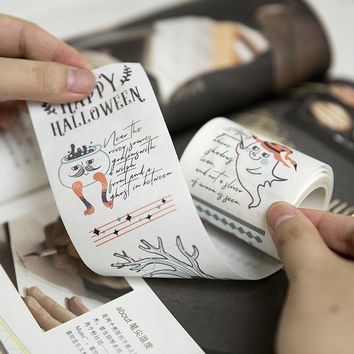 Cartoon magic night Witch/Devil Pumpkin/Mr. Tree Special ink decoration washi tape DIY planner scrapbooking masking tape escolar