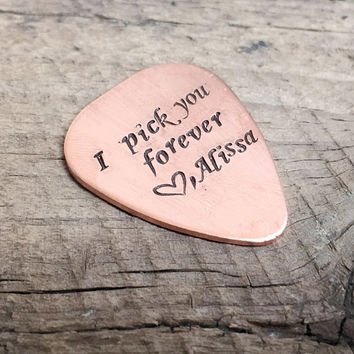 Groom to Bride Gift, I pick you Forever, Guitar picks, Personalized guitar picks, Customized guitar picks, boyfriend, girlfriend, men gift