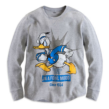 Disney Donald Duck Long Sleeve Thermal Tee for Men | Disney Store