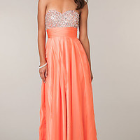 Strapless A-Line Chiffon Gown by Alyce