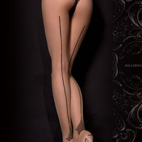 311 Tights Nero (Black)/Skin by Ballerina Hosiery
