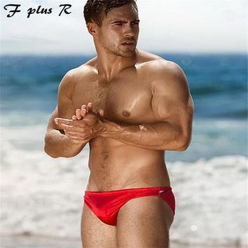 F plus R NEW Sexy Men's Swimming Trunks,Men's Lace Up Swimsuits Surf Board Beachwear Swim Briefs,Man's Swimming Briefs