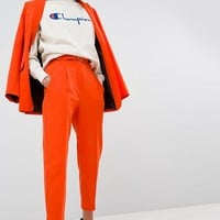 ASOS Tailored Belted PANTS In Orange Pop at asos.com