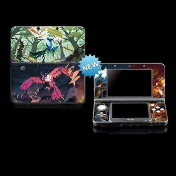 Protective Vinyl Skin Sticker For  X/Y Color Stickers For Nintendo NEW 3DSKawaii Pokemon go  AT_89_9
