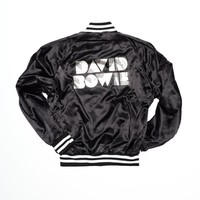 David Bowie Glitter Satin Jacket - Vintage Black