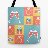 Wedding Pattern (1 of 4) Tote Bag by mollykd