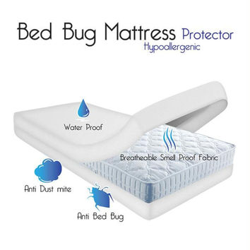 Remedy Bed Bug Dust Mite Cotton Mattress Protector- Full