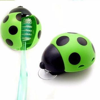 Ladybug Cartoon Toothbrush Holder