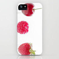 3 fruits, 3 forks iPhone & iPod Case by Tanja Riedel