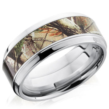 Lashbrook Cobalt Chrome 9mm Realtree Ap Camo Inlay Wedding Band
