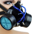 Blue Uv Cyber Punk Cosplay Respirator Gas Mask Anime Halloween