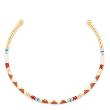 Geo Striped Collar Necklace