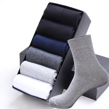 Casual Business Socks For Men Cotton
