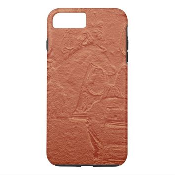 Horse Faux Red Sandstone Bas Relief iPhone 7 Plus Case
