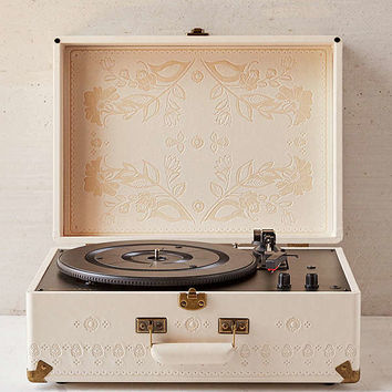 Crosley X UO Floral Embossed Portable USB Vinyl Record Player | Urban Outfitters