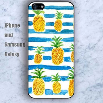 Pineapple yellow iPhone 5/5S case Ipod Silicone plastic Phone cover Waterproof