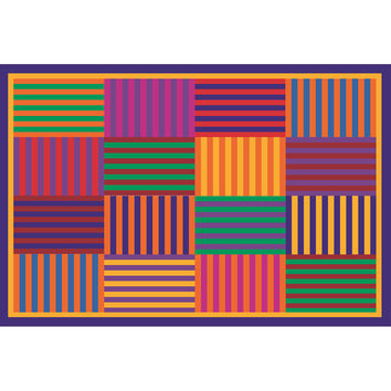 Fun Rugs Fun Time Collection Rainbow Stripes Area Rug