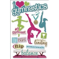 Paper House Productions STDM-0061E 3D Cardstock Stickers, Gymnastics (3-Pack)
