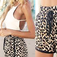 Sasha Fierce Casual Leopard Printed Shorts Short Pants