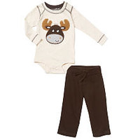 Koala Baby Boys' 2 Piece Long Sleeve Animal Bodysuit and Pants Playwear Set