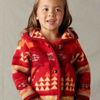 Kid & Baby Coats, Pendleton ® Wool Fabric Coat in Satus Creek Red