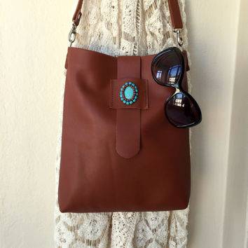 Brown Leather Shoulder Bag,Brown Leather Purse,Leather Hobo Bag,Boho Leather Bag,Leather Crossbody Bag,Leather Messenger Bag,Leather Tote