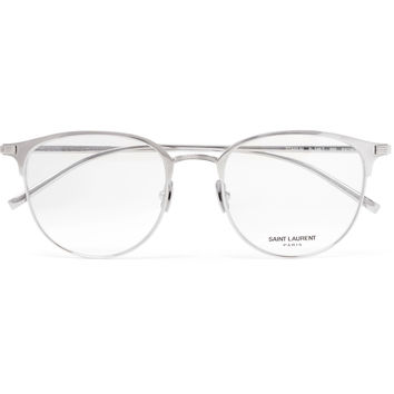 Saint Laurent - Round-Frame Titanium Optical Glasses