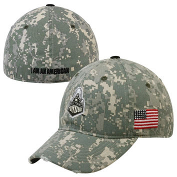 Top of the World Purdue Boilermakers Veteran's Day Cellar Flex Hat - Camo